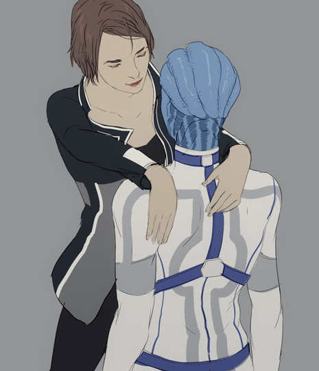 Sexy Shepard and Liara