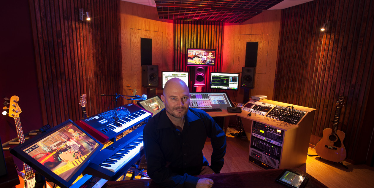 Ben Chase at Film Sonic audio post production studio in North Perth
