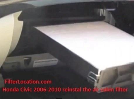 Honda Civic 2006-2010 cabin air filter location FilterLocation