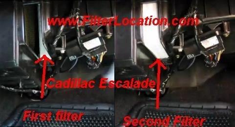 Cadillac Escalade cabin air filter location FilterLocation