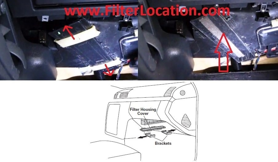 Mercedes Benz SLK 230 cabin air filter location