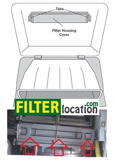 Kia Rio cabin air filter location