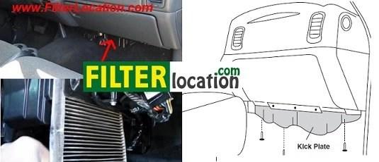 Chevrolet Silverado cabin air filter location