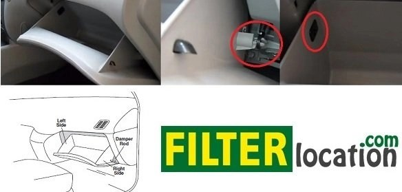 Locate Kia Optima cabin air filter
