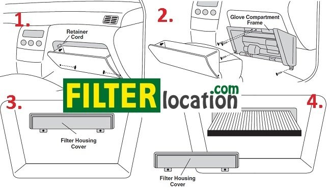 Nissan Altima cabin air filter location
