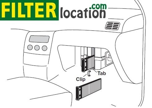 2001-2004 Nissan Pathfinder cabin air filter location