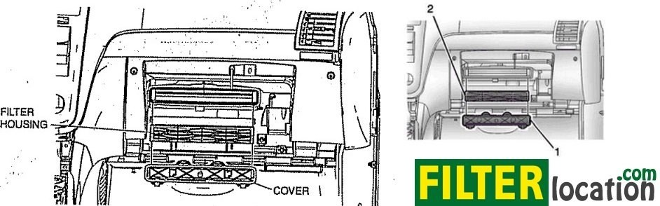 Where to locate and how to replace GMC Acadia cabin air filter