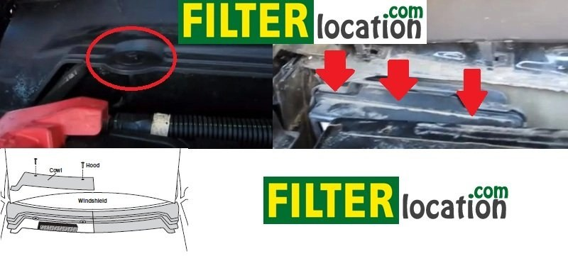 Ford Mustang cabin air filter location