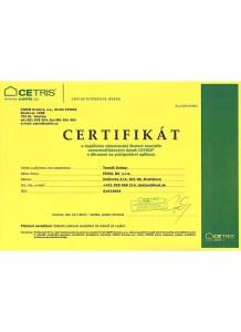 certifikát cementotrieskové dosky