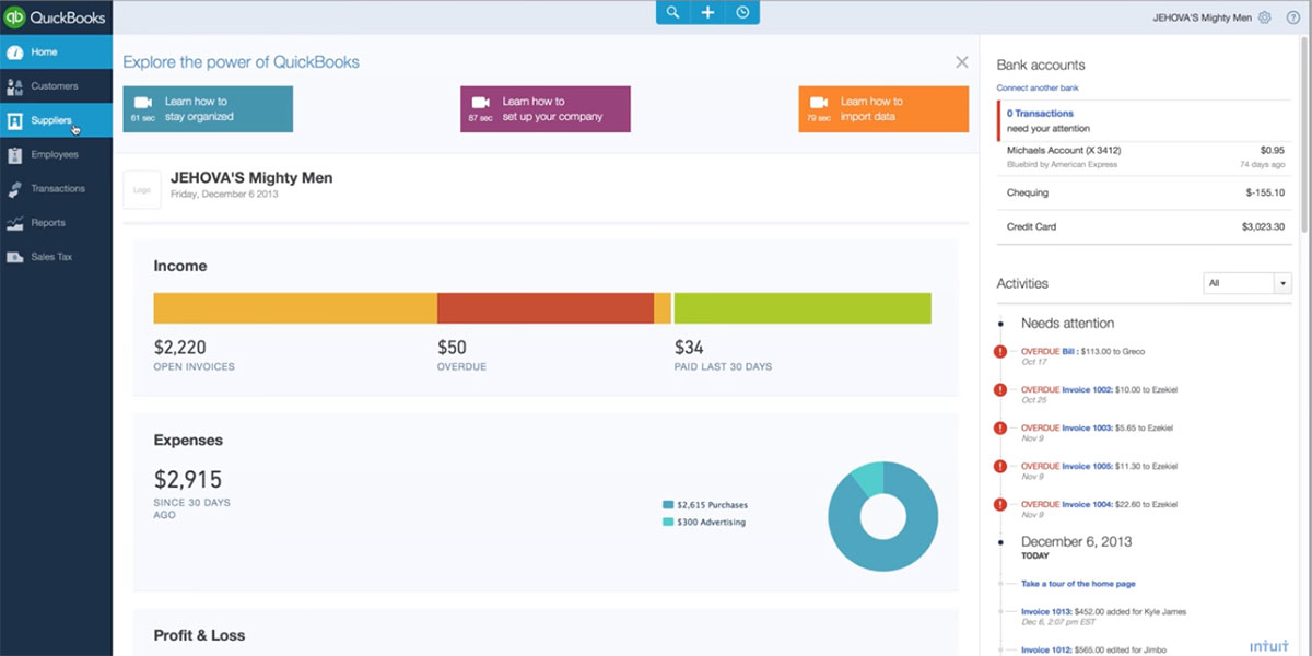 Top 20 Accounting Software for Small Business in 2018 - invoice web app