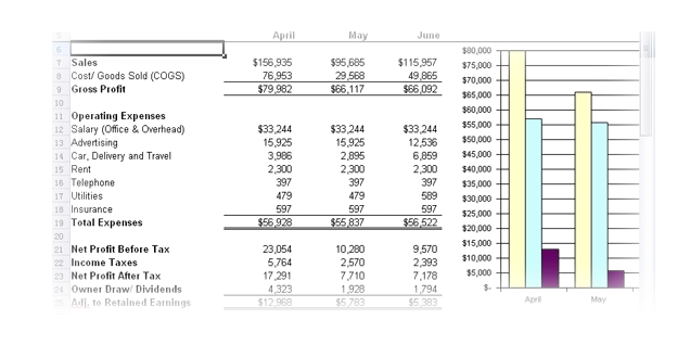financial model excel spreadsheet - Onwebioinnovate