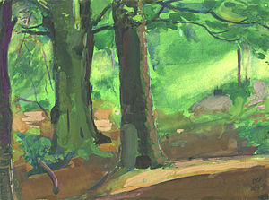 The woods at Cupid's Green, painted by Ashley George