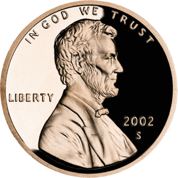 Lincoln memorial cent, with the S mintmark of ...