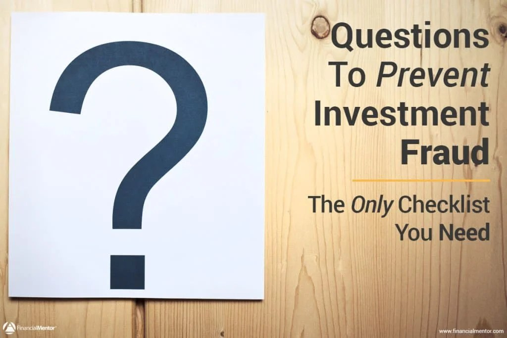 Due Diligence Checklist To Prevent Investment Fraud Financial Mentor