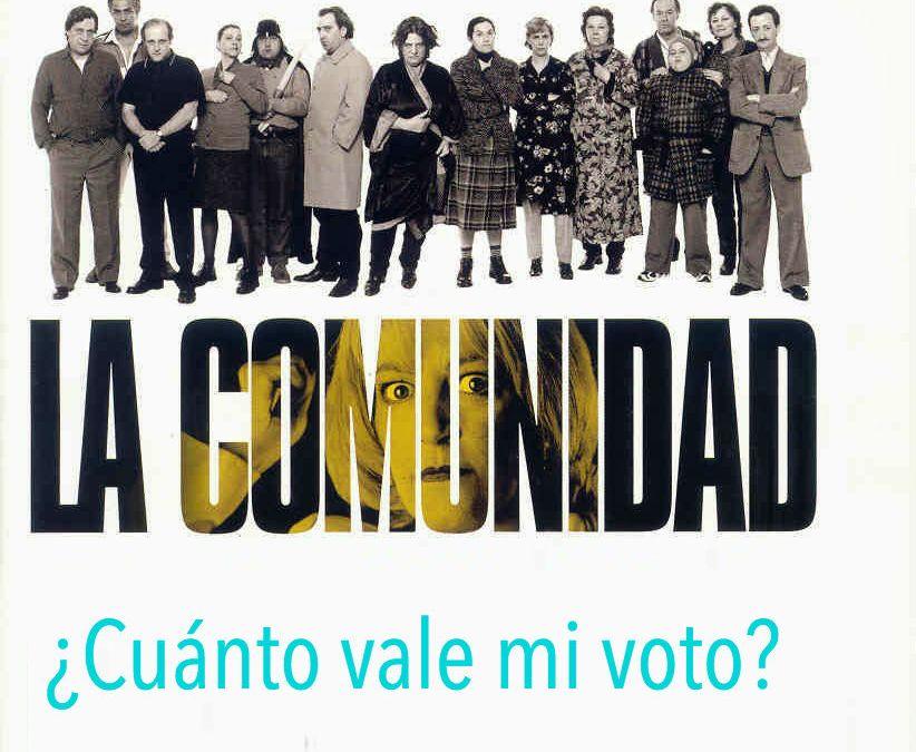 ¿Cuánto vale mi voto en la Junta de Propietarios de mi Comunidad de vecinos?