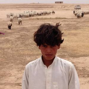 Bedouin boy in camp outside Kirkuk, Iraq/Kurdistan
