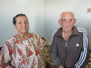 Elderly refugee couple at Erbil camp