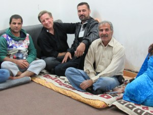 Scott spending the evening with refugee families in Sarseng, Northern Iraq/Kurdistan