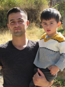 Yazidi father and son