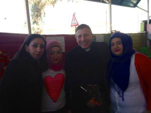 Scott with staff members from a Christian preschool in Northern Iraq