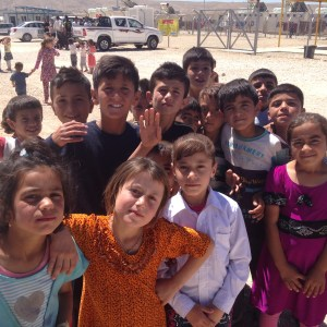 Yazidi kids at Shariya refugee camp outside Duhok
