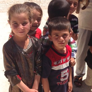 Yazidi kids in a refugee camp outside Duhok, Iraq/Kurdistan