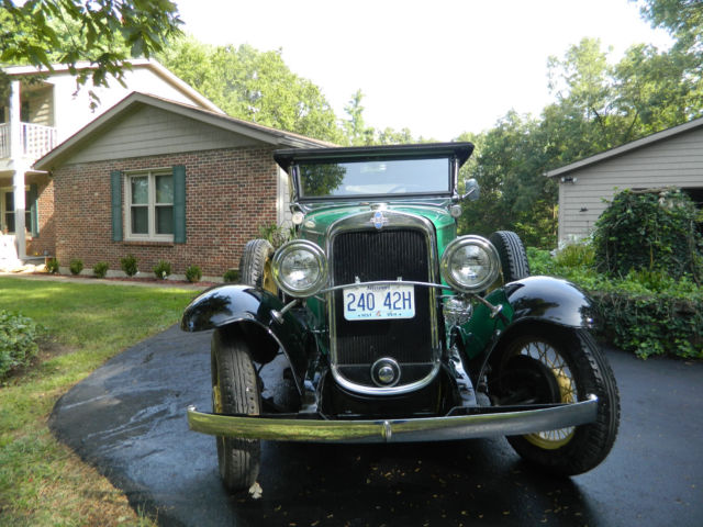 Chevrolet Other Convertible 1931 Green/Black For Sale 12AE46902