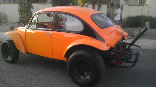 Volkswagen Beetle Classic Coupe 1969 Orange Black Two