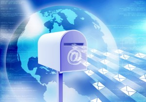 Conceptual image about electronic mail. How internet receive and sending email with mailbox.