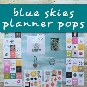 Blue Skies Planner Pops
