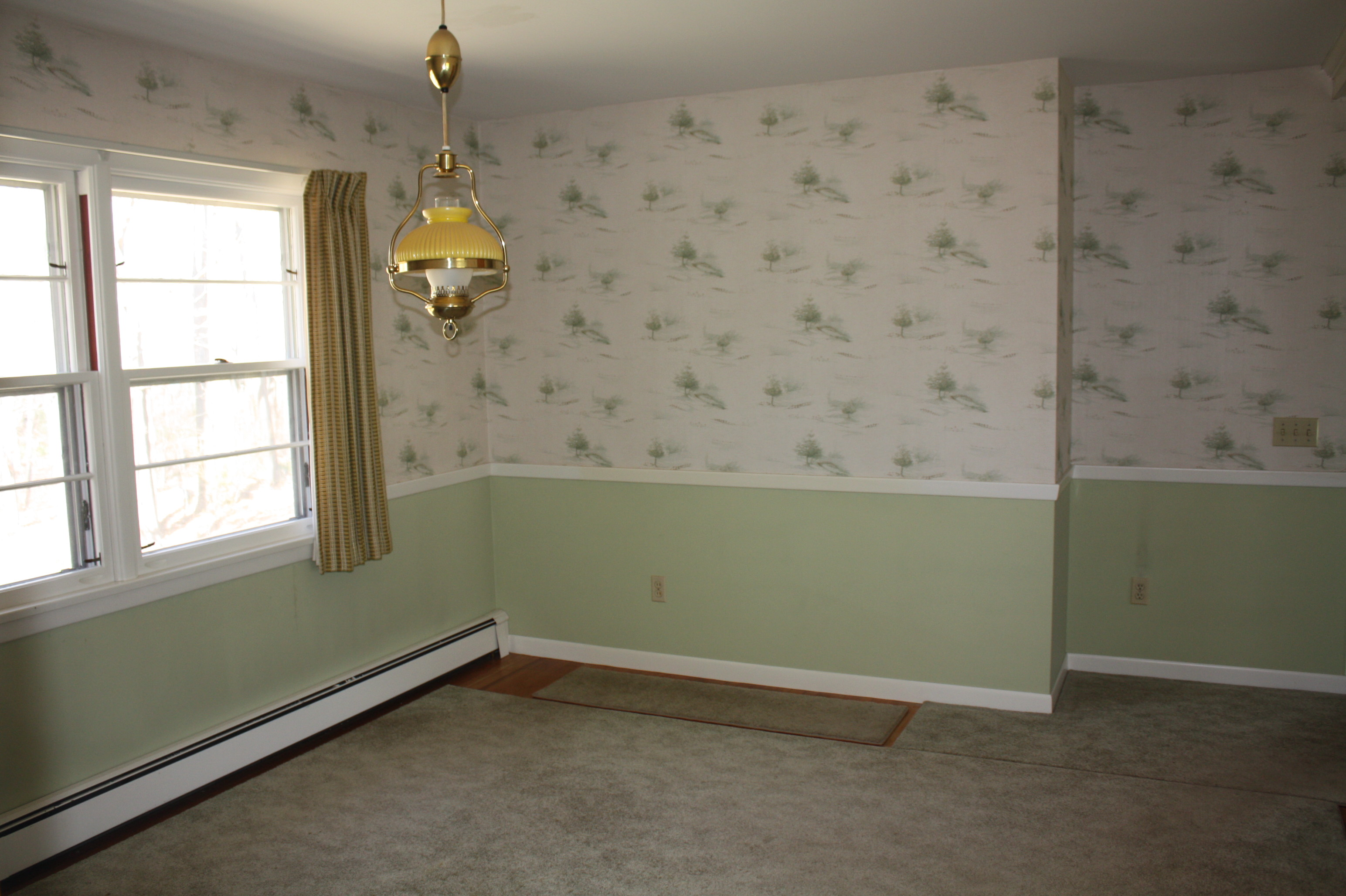 Dining Room Wallpaper With Chair Rail Sophisticated (?) Dining Room Makeover | Find Good In
