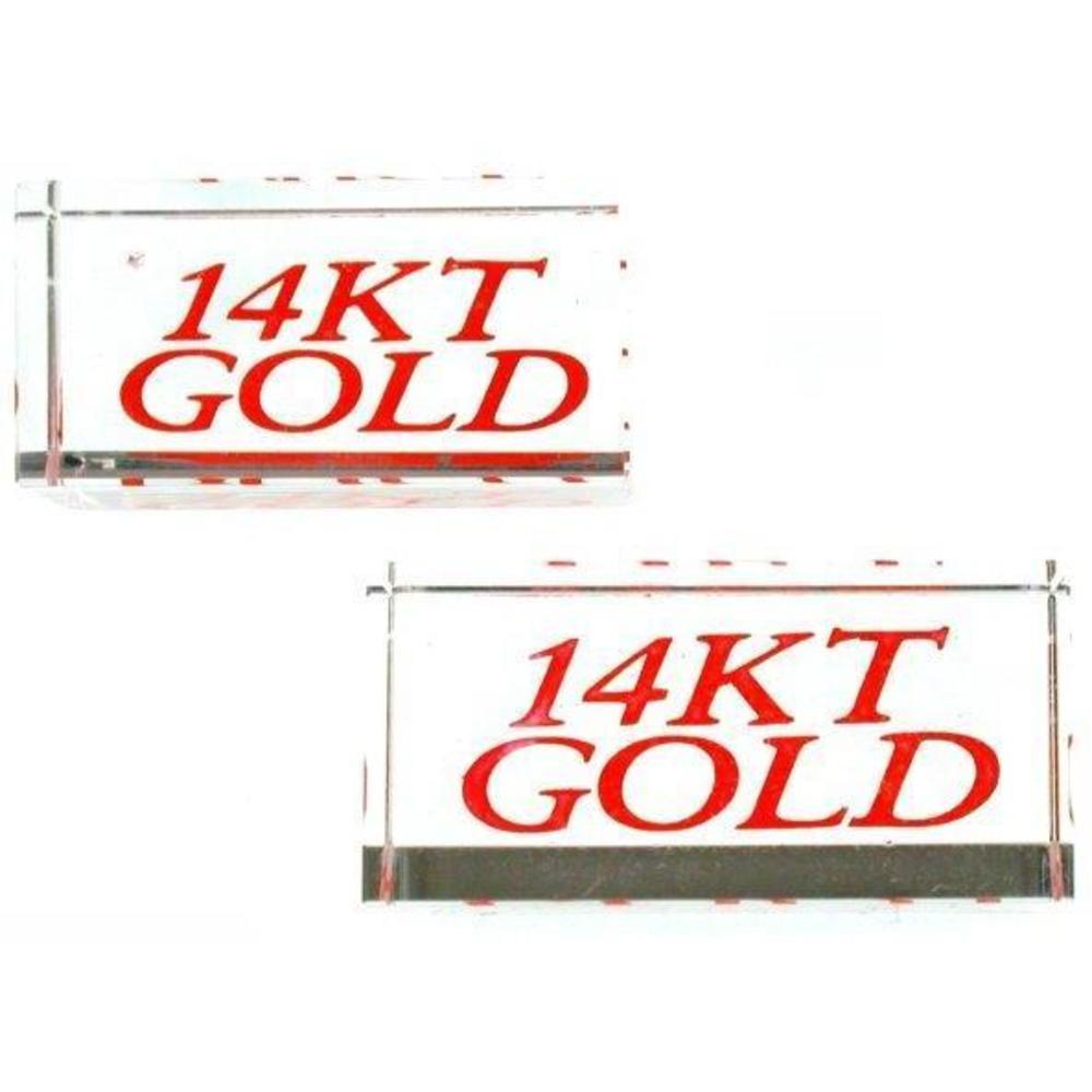 Countertop Signs 2 Display Signs 14kt Gold Showcase Jewelry Countertop