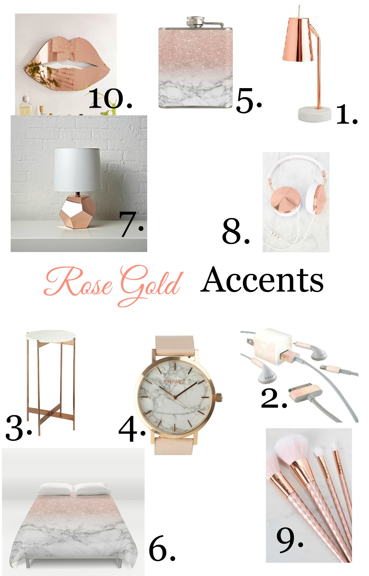 Rose Gold Decor Rose Gold Decor Accents Finding Silver Linings
