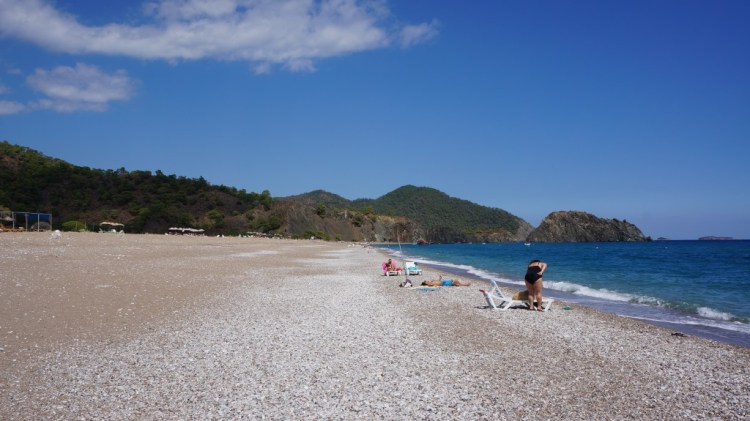 Olympos black sand beach