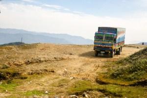 Bus from Kathmandu to Shivalaya
