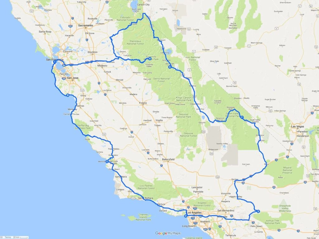 Go Via Trip Planner A Two Week California Road Trip Itinerary Finding The Universe