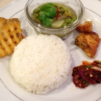 Monica Gi Chakhum : Simple Meal with Kangsoi, baked Potato & Salmon Fish and Morok Metpa
