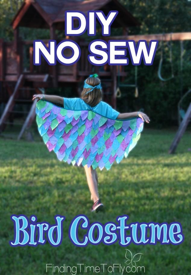 DIY No Sew Bird Costume