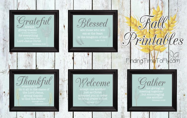 Fall Printables with Bible Verse