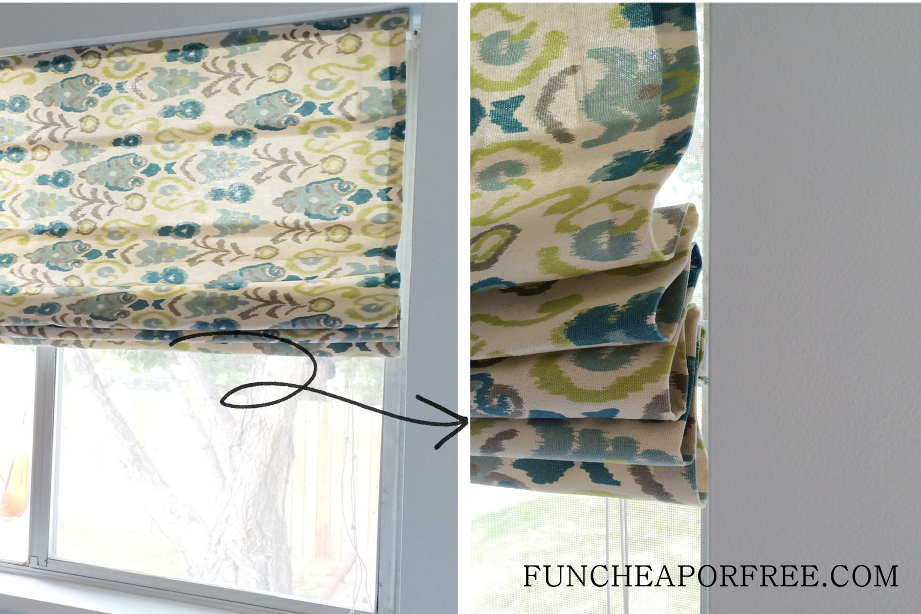 Diy Roman Shades Easy Easy Diy No Sew Roman Shades Fun Cheap Or Free