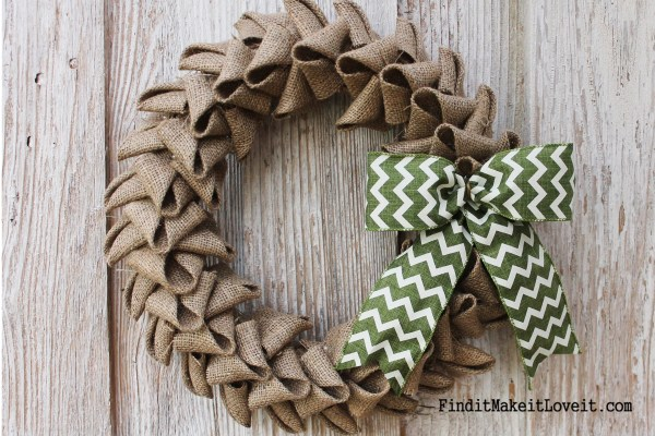 Image result for burlap wreath