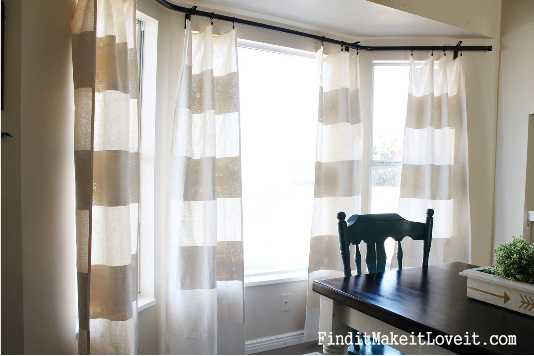 Paint Drop Cloth Curtains Painted Drop Cloth Curtains