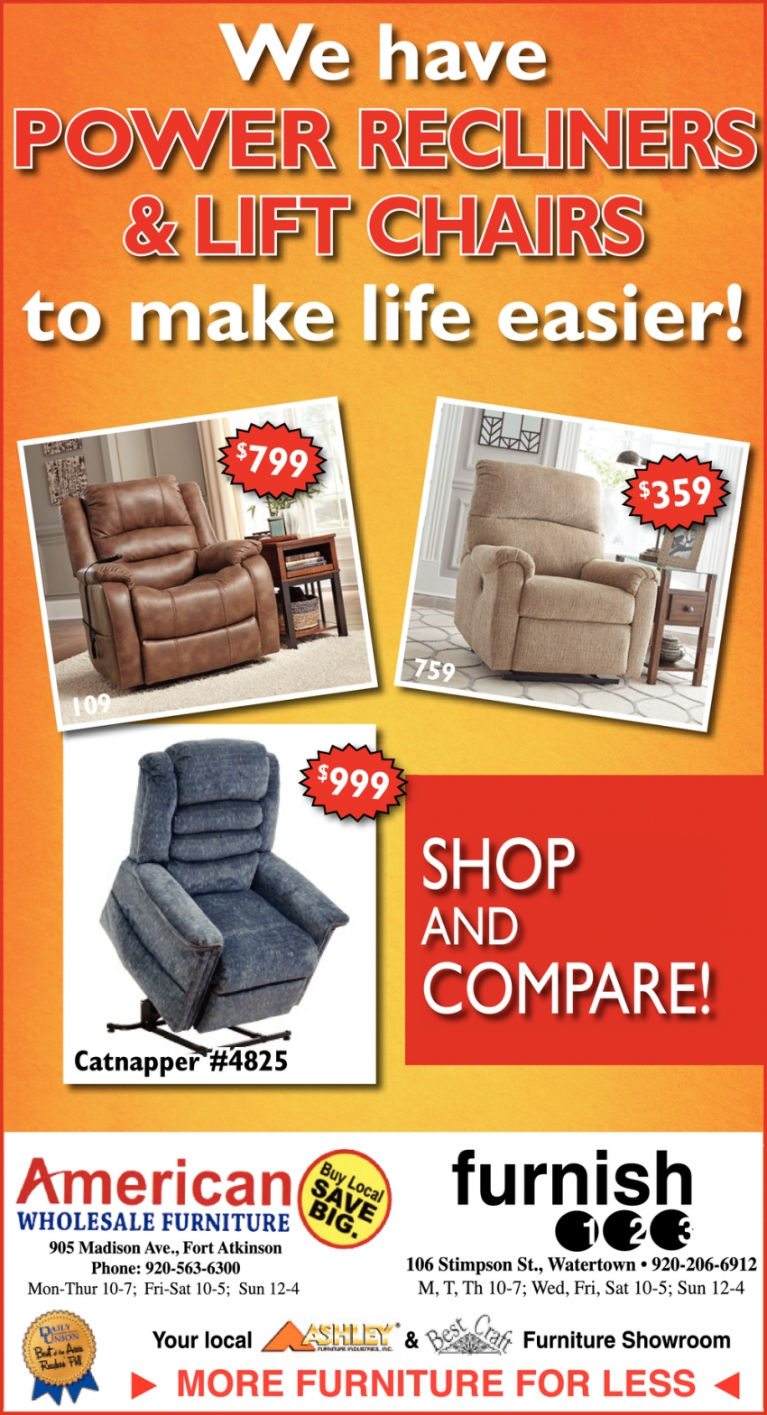 We Have Power Recliners Lift Chairs To Make Life Easier American Wholesale Furniture Furnish 123
