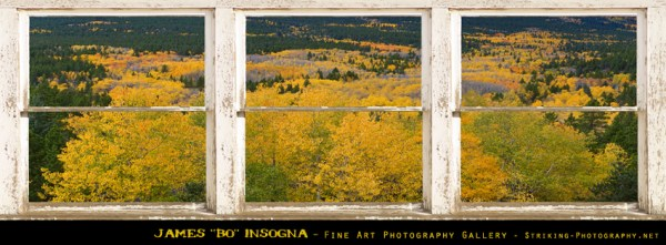 Colorful Colorado Picture Window Frame View Photo Art