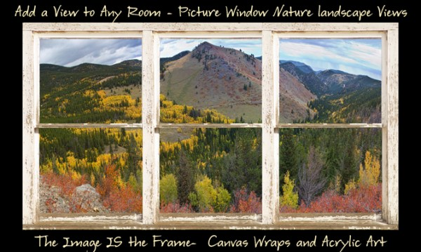 Colorful Colorado Autumn Rustic WT Window View 600ss 600x359 Golden Ponds Sunset Reflections 4
