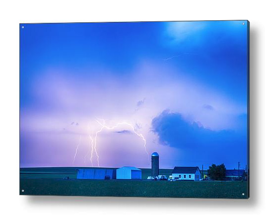 Colorado Country Lightning Storm Acrylic Print