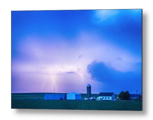 Colorado Country Lightning Storm Metal Print