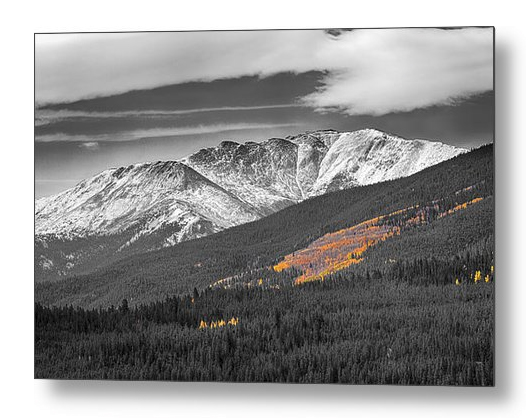 Rocky Mountain Independence Black And White Selective Metal Prin