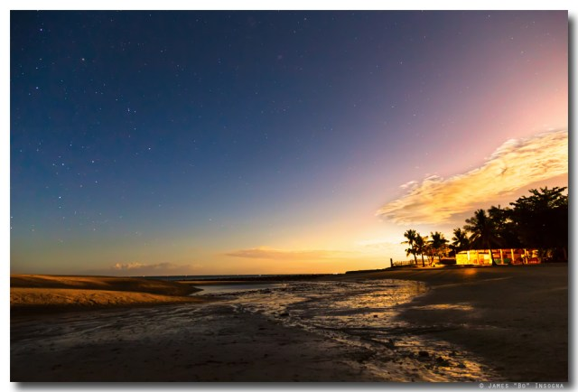 Bantayan Low Tide Nighttime View