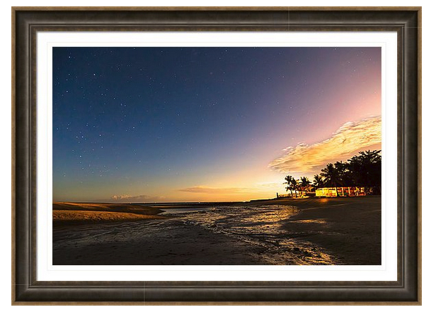 Bantayan Low Tide Nighttime View Framed Print